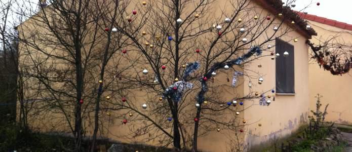 Árbol de navidad de Villatuelda 2014