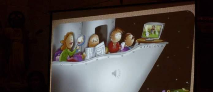 Diapositiva ilustrativa en la oración por la Paz